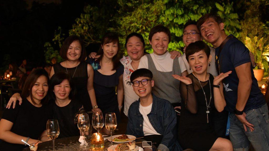 Back row: Lynette Chen, Tan Wee Ping, Dr Chan Wui Ling, Lee Chee Ying, Rey Yeo, Johnny Lim                                                             Jeannelyn Luistro De Juan, Felina Tan, Phua Zhi Jie, Brendda Pang